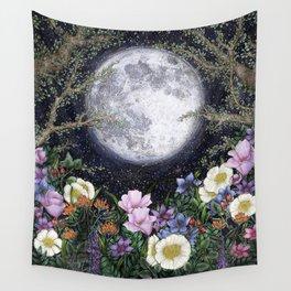 Midnight in the Garden II Wall Tapestry