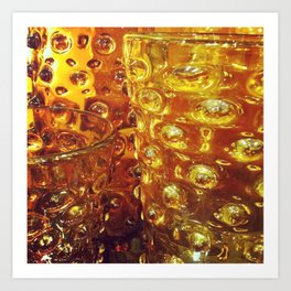 Photograph. Amber Glass Vases Art Print