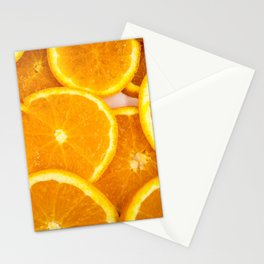 Fresh Orange Slices Stationery Cards