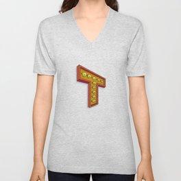 The T Letter Unisex V-Neck