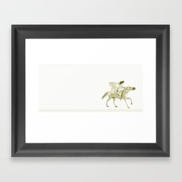 Bullet Flying Framed Art Print