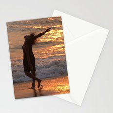 Dancing in the Surf at Sunset Stationery Cards