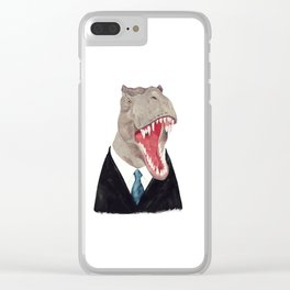 T. Rex - All Business Clear iPhone Case