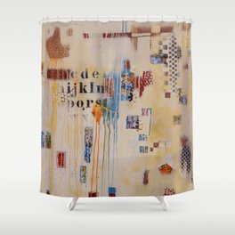 """Falling into Place"" Shower Curtain"