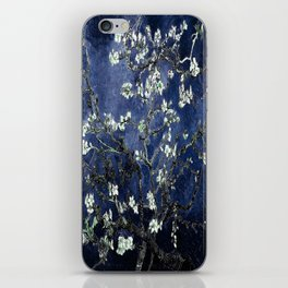 Vincent Van Gogh Almond Blossoms Dark Blue iPhone Skin