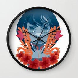 Girl InFlowers 2 Wall Clock