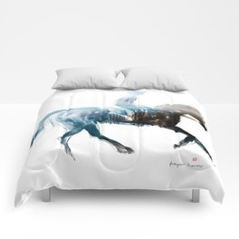 Horse (Canter on the beach) Comforters