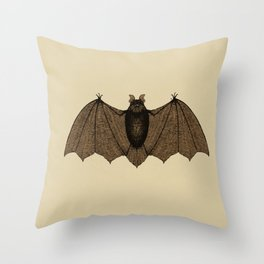 Bat zoology illustration Throw Pillow