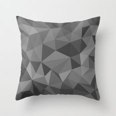 black polygon background  Throw Pillow