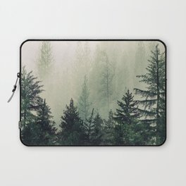 Foggy Pine Trees Laptop Sleeve