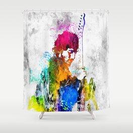 The Boss Bruce S Grunge Shower Curtain