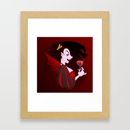 Silly Bestiary : The Vampire Framed Art Print