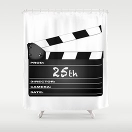 25th Year Clapperboard Shower Curtain