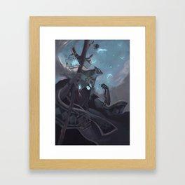 The Dreamteller of the Departed Framed Art Print