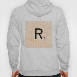 Scrabble Letter R - Large Scrabble Tiles Hoody