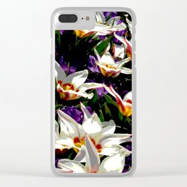 Tulips & Crocuses Clear iPhone Case