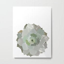 Watercolor Succulent Metal Print
