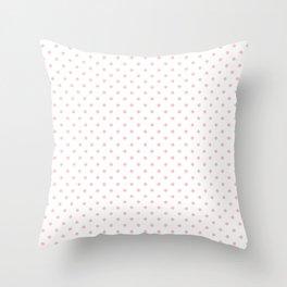 Dots (Pink/White) Throw Pillow