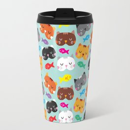 Cats Love Fish I Travel Mug
