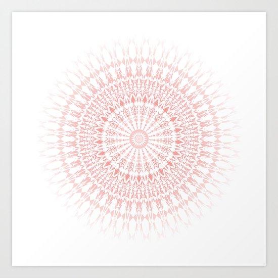 Rose Quartz Mandala Art Print
