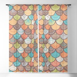 Dragon scales Sheer Curtain