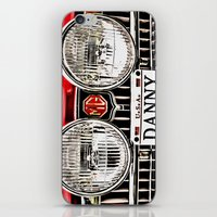 danny haas iPhone & iPod Skins featuring MG Danny by Catherine Doolan