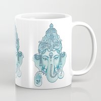 ganesha Mugs featuring Ganesha by Hipster's Wonderland
