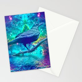 Cthulhu's Messenger (When Ed Poe & H.P. Lovecraft Meet) Stationery Cards