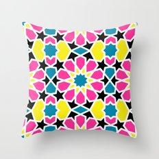 Arabesque CMYK Throw Pillow