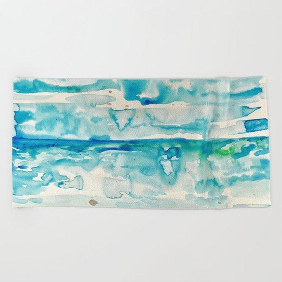 Miami Beach Watercolor #6 Beach Towel