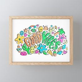Good Vibes Doodle Framed Mini Art Print
