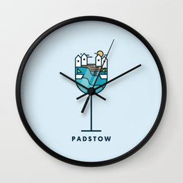 PADSTOW IN A GLASS Wall Clock