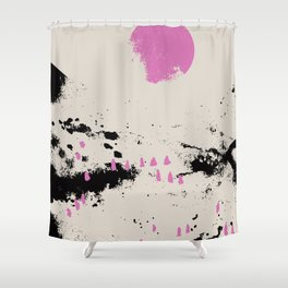 Pink vibe 1 Shower Curtain