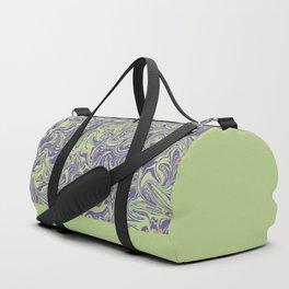Liquid Swirl - Lettuce Green and Ultra Violet Duffle Bag