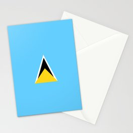 Saint Lucia country flag Stationery Cards