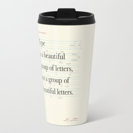Typography Anatomy Travel Mug