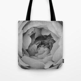 Blak and white rose Tote Bag