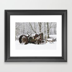 Steel and Snow Framed Art Print