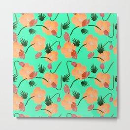 Tropical poppy flowers Metal Print