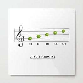 Peas & Harmony Metal Print