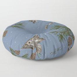 FLYING SQUIRRELS IN THE PINES (twilight) Floor Pillow