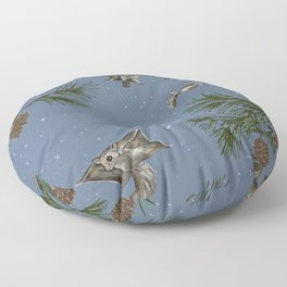 FLYING SQUIRRELS IN THE PINES (twilight) Floor Pillow