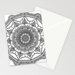 White Henna Bloom Stationery Cards