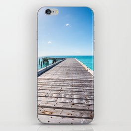 Turks and Caicos beach pier iPhone Skin