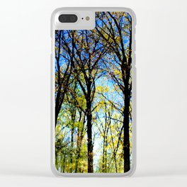 Summer slips into fall Clear iPhone Case