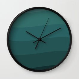 Six shades of turquoise. Wall Clock