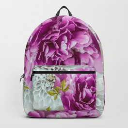Summer bouquet of purple and white flowers - #Society6 #buyart Backpack