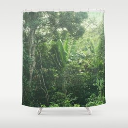 Green Paradise Shower Curtain