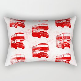 Grunge London Bus Pattern Rectangular Pillow
