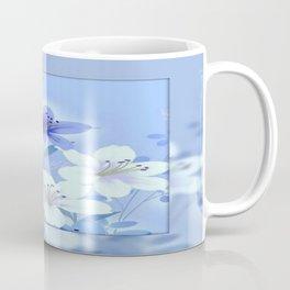Periwinkle Mirror Floral Coffee Mug